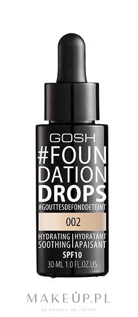 Podkład w kremie - Gosh Foundation Drops SPF 10 — фото 002 - Ivory