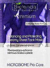 Równoważąco-ochronna maska w płacie - Bielenda Professional Premium Microbiome Pro Care Balancing and Protectiveing Creamy Mask — фото N1