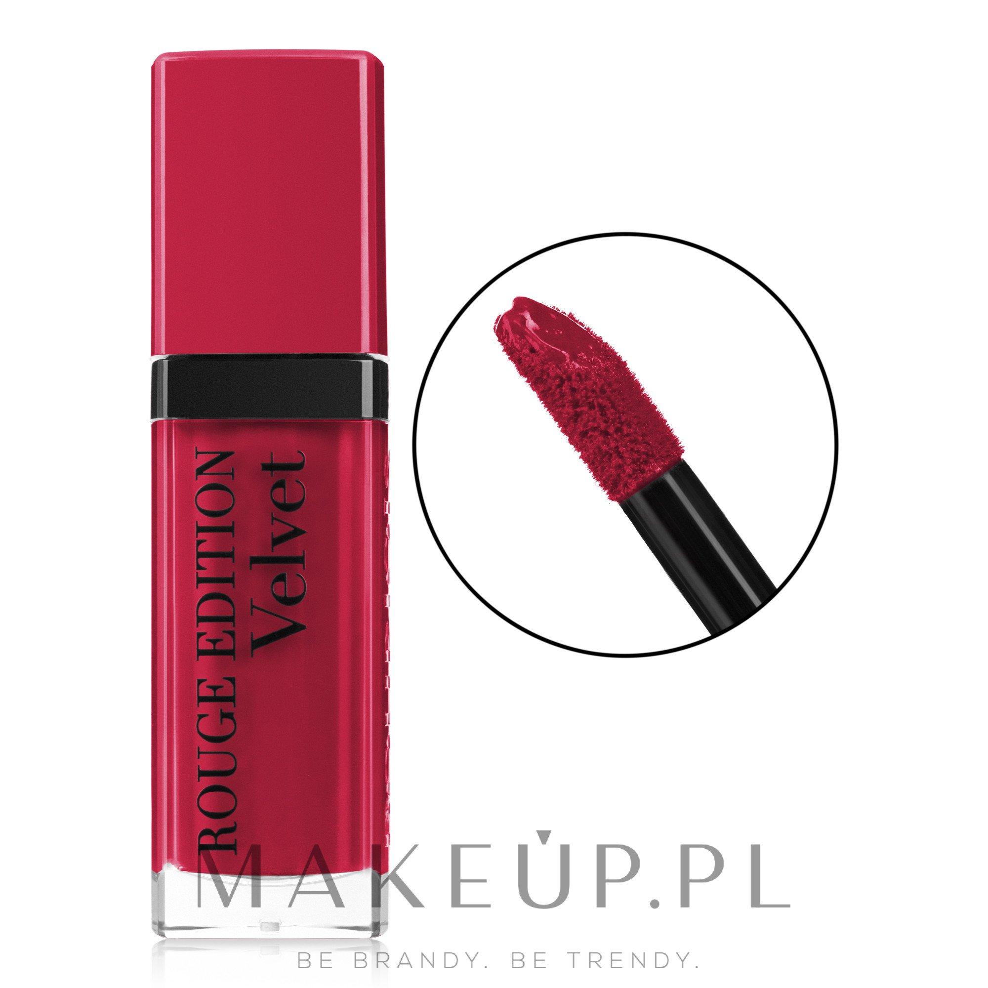 Pomadka w płynie z matowym wykończeniem - Bourjois Rouge Edition Velvet Lipstick — фото 02 - Frambourjoise