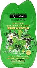 Kup Rozjaśniająca żelowa maska peel-off do twarzy Zielona herbata i kwiat pomarańczy - Freeman Feeling Beautiful Brightening Green Tea+Ornge Blossom Peel-Off Gel Mask (miniprodukt)