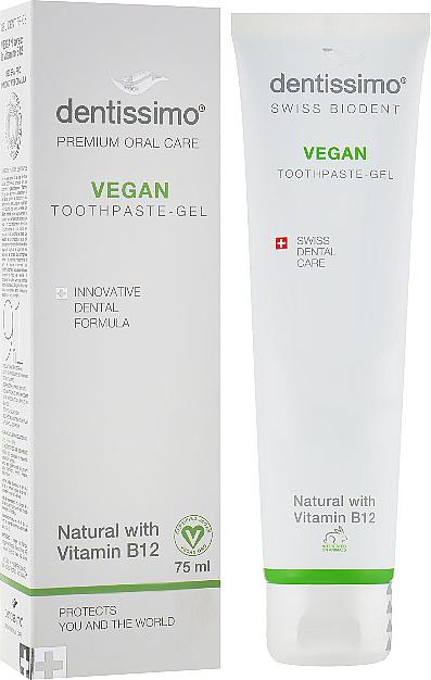 Wegańska pasta-żel do mycia zębów z witaminą B12 - Dentissimo Vegan with Vitamin B12 — фото N1