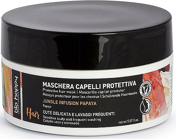 Ochronna maska do włosów - Bio Happy Jungle Infusion Protective Hair Mask  — фото N1