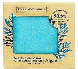 Kup Twardy szampon i odżywka do włosów 2 w 1, algi - Stara Mydlarnia Algae 2in1 Shampoo Bar