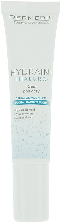 Krem pod oczy do skóry suchej i odwodnionej - Dermedic Hydrain3 Hialuro