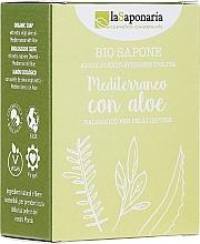 Kup Śródziemnomorskie balsamiczne mydło z oliwą do skóry zanieczyszczonej Aloes - La Saponaria Aloe Soap