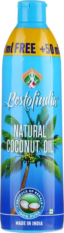 Naturalny olej kokosowy z Kerala do włosów i ciała - Bestofindia Natural Coconut Oil  — фото N3