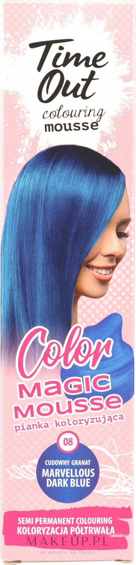 PRZECENA! Pianka koloryzująca do włosów - Time Out Color Magic Mousse * — фото 08 - Marvellous Dark Blue