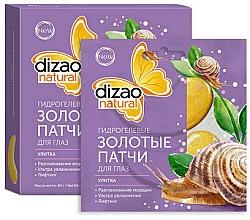 Kup Hydrożelowe złote płatki pod oczy ze śluzem ślimaka - Dizao