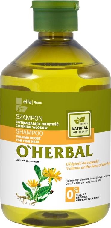 Szampon z ekstraktem z arniki zwiększający objętość włosów cienkich - O'Herbal