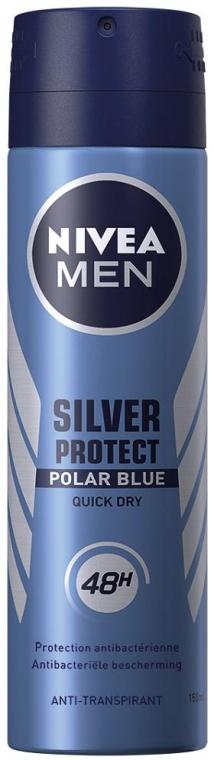 Antyperspirant w sprayu dla mężczyzn - Nivea Men Silver Protect Polar Blue Deodorant Spray — фото N1