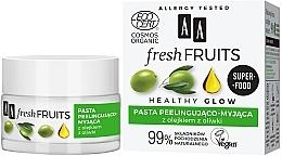 Kup Peelingująco-myjąca pasta do twarzy z olejkiem z oliwki - AA Fresh Fruits Healthy Glow