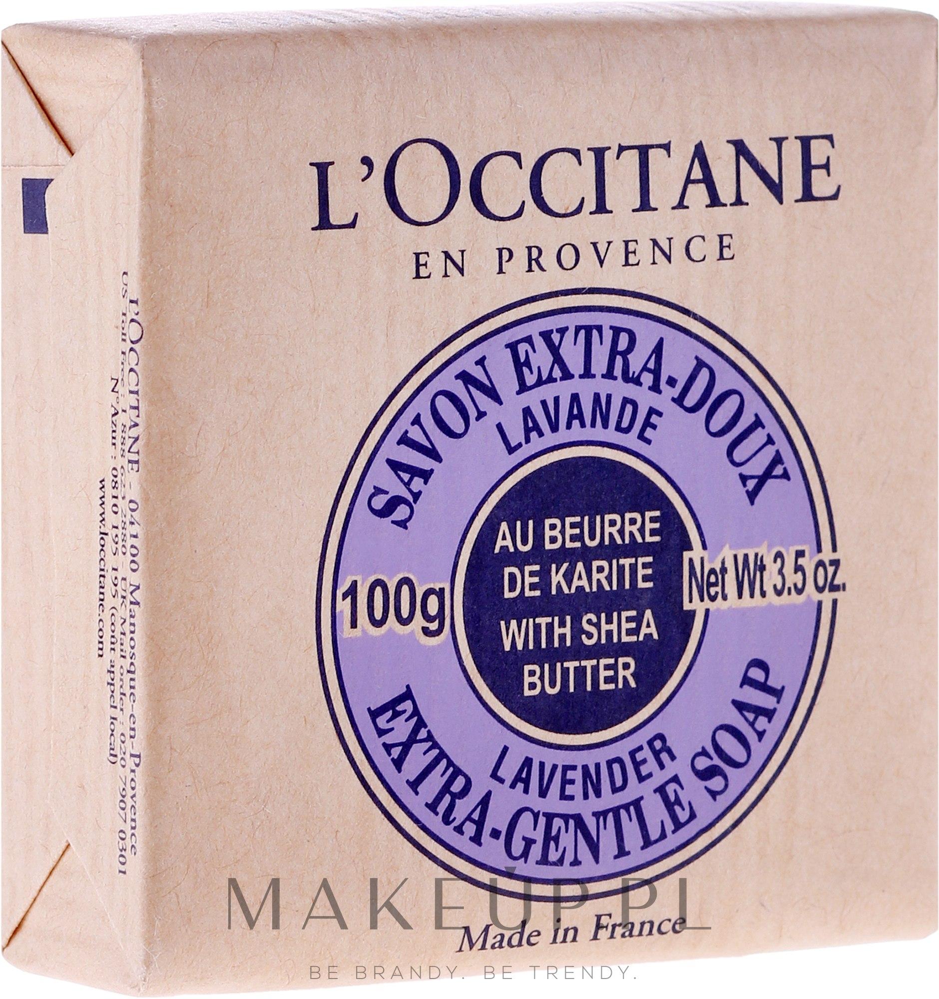 Lawendowe mydło Masło shea - L'Occitane Shea Butter Extra Gentle Soap-Lavender — фото 100 g