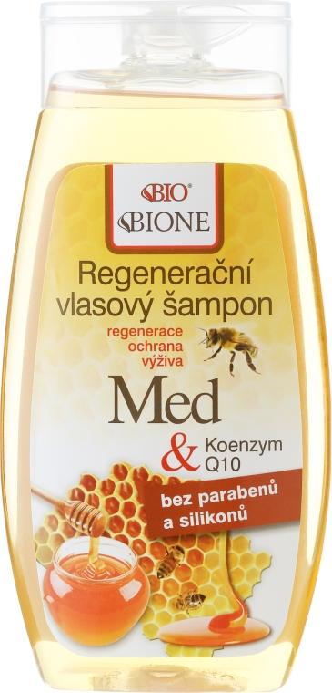 Szampon regenerujący Miód i koenzym Q10 - Bione Cosmetics Honey + Q10 Shampoo — фото N1