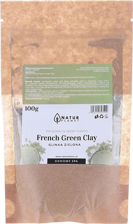 Maska do twarzy z glinki - Natur Planet French Green Clay