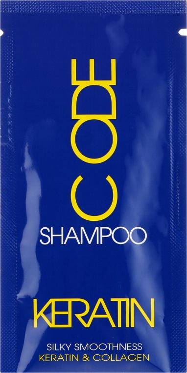 Keratynowy szampon do włosów - Stapiz Keratin Code Shampoo (próbka)