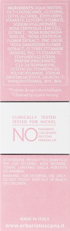 Nawilżający krem do twarzy - Erbario Toscano Biocomplex Pure Rose 24H Face Cream — фото N3
