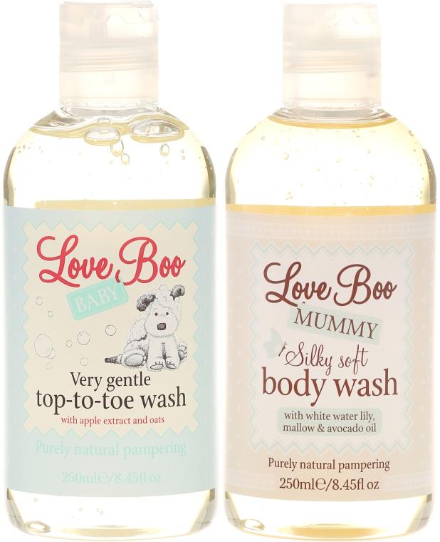 Zestaw żeli pod prysznic dla mamy i dziecka - Love Boo Happy Baby Shower (2 x sh/gel 250 ml) — фото N2