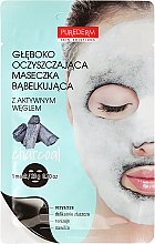 Kup Głęboko oczyszczająca maska bąbelkowa do twarzy - Purederm Deep Purifying Black O2 Bubble Mask Charcoal