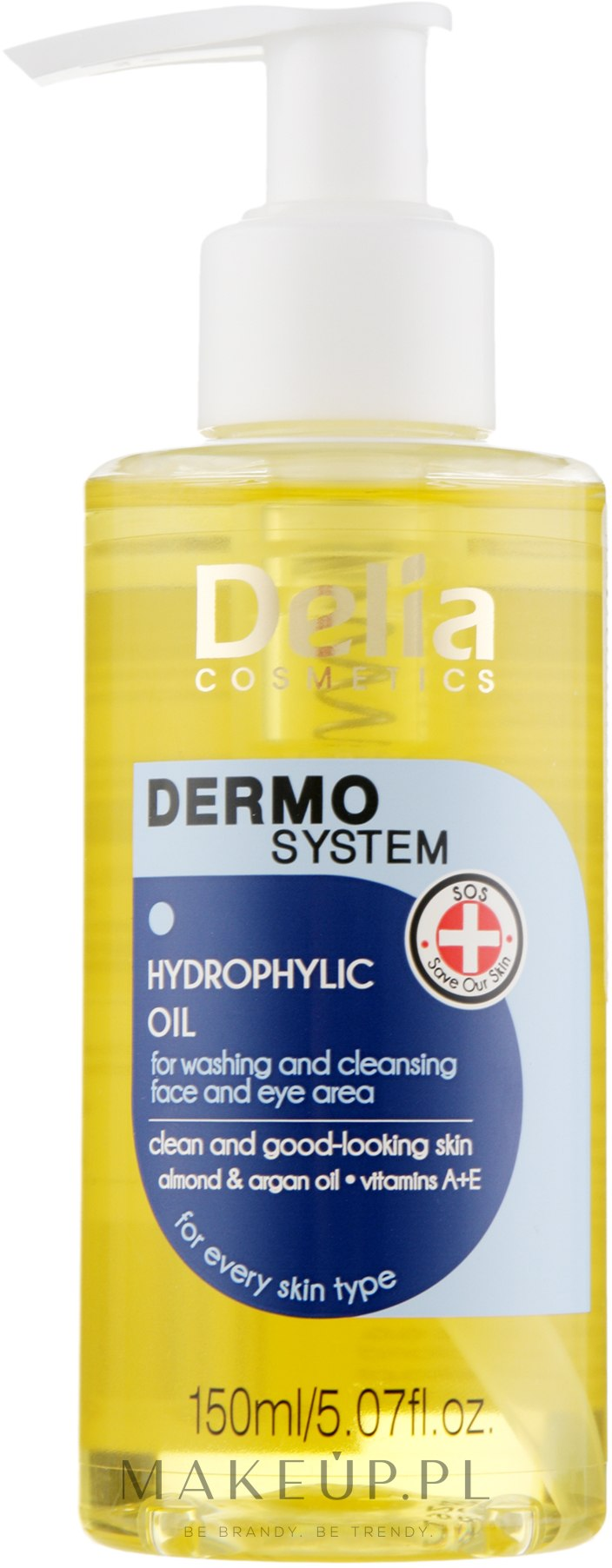 Hydrofilny olejek do mycia twarzy i okolic oczu - Delia Dermo System — фото 150 ml