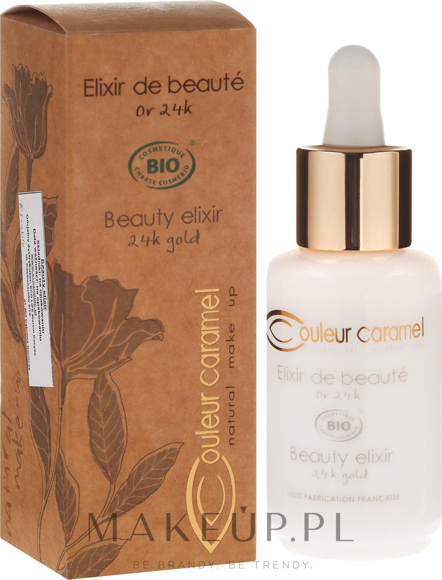 Eliksir do twarzy z 24-karatowym złotem - Couleur Caramel Beauty Elixir 24K Gold — фото 30 ml