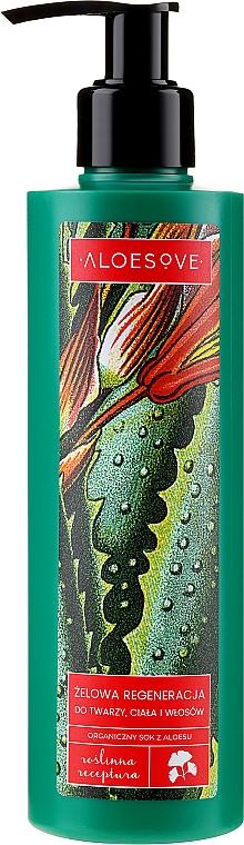 Regenerujący żel do twarzy, ciała i włosów z organicznym sokiem z aloesu - Aloesove