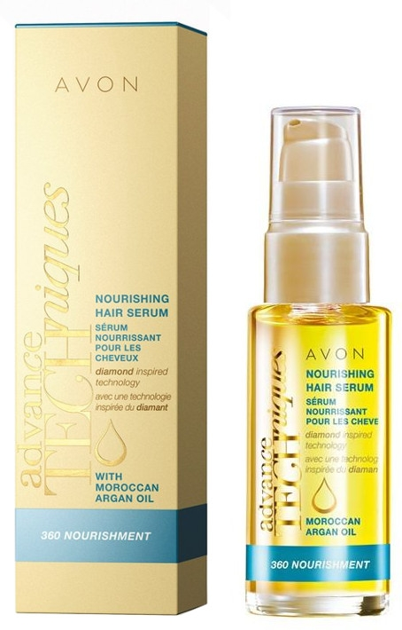 Serum bez spłukiwania do włosów Pełne odżywienie - Avon Advance Techniques 360 Nourishment Moroccan Argan Oil
