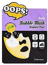 Kup Bąbelkująca maseczka rozświetlająca w płachcie do twarzy - Berrisom Soda Bubble Mask Brighten Fruit