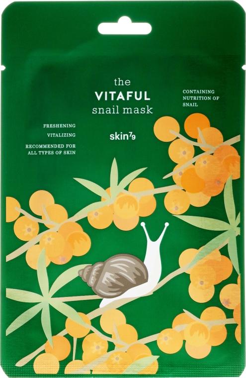Energizująca maska w płachcie Odświeżenie i witalność - Skin79 The Vitaful Snail Mask — фото N1