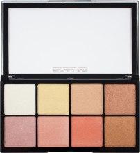 Paletka rozświetlaczy do twarzy - Makeup Revolution Pro Glow 2 — фото N1