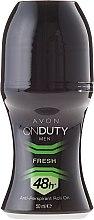Kup Antyperspirant w kulce dla mężczyzn - Avon On Duty Men Fresh 48H Anti-Perspirant Roll-On