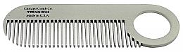 Kup Tytanowy grzebień do włosów i brody - Chicago Comb Co Model No.2 Titanium