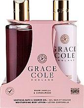 Kup Zestaw - Grace Cole Warm Vanilla & Sandalwood (sh/gel/300ml + b/lot/300ml)