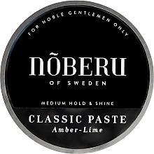Kup Modelująca pasta do włosów dla mężczyzn - Noberu of Sweden Classic Paste Amber-Lime