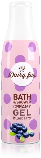 Kremowy żel do kąpieli i pod prysznic o zapachu aromatycznej jagody - Delia Dairy Fun Bath Shower Creamy Gel — фото N1