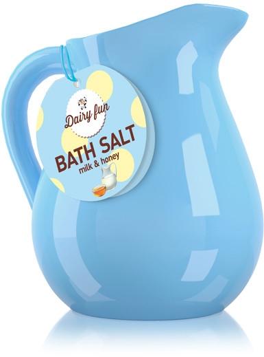 Sól do kąpieli Mleko i miód - Delia Dairy Fun Bath Salt — фото N1