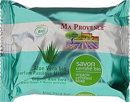 Kup Organiczne mydło w kostce z aloesem o zapachu arbuza i melona - Ma Provence Organic Soap