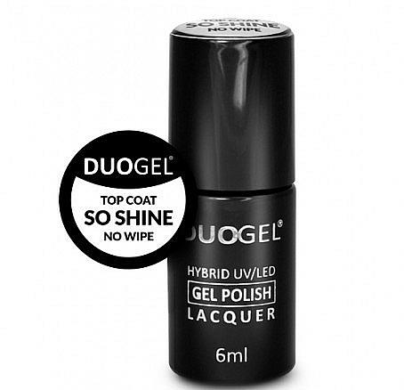 Błyszczący top coat do paznokci - Duogel Top Coat So Shine No Wipe — фото N1