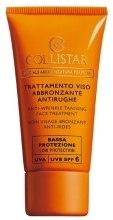 Kup Przeciwzmarszczkowa kuracja brązująca do twarzy - Collistar Antiwrinkle Tanning Face Treatment SPF 15
