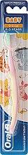 Kup Bardzo miękka szczoteczka do zębów dla dzieci 0-2, Kubuś Puchatek, różowo-żółta - Oral-B Baby