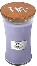 Świeca zapachowa w szkle - WoodWick Hourglass Candle Lilac — фото N2