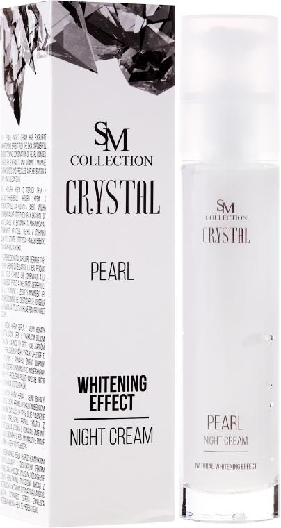 Perłowy krem wybielający do twarzy na noc - SM Collection Crystal Pearl Night Cream