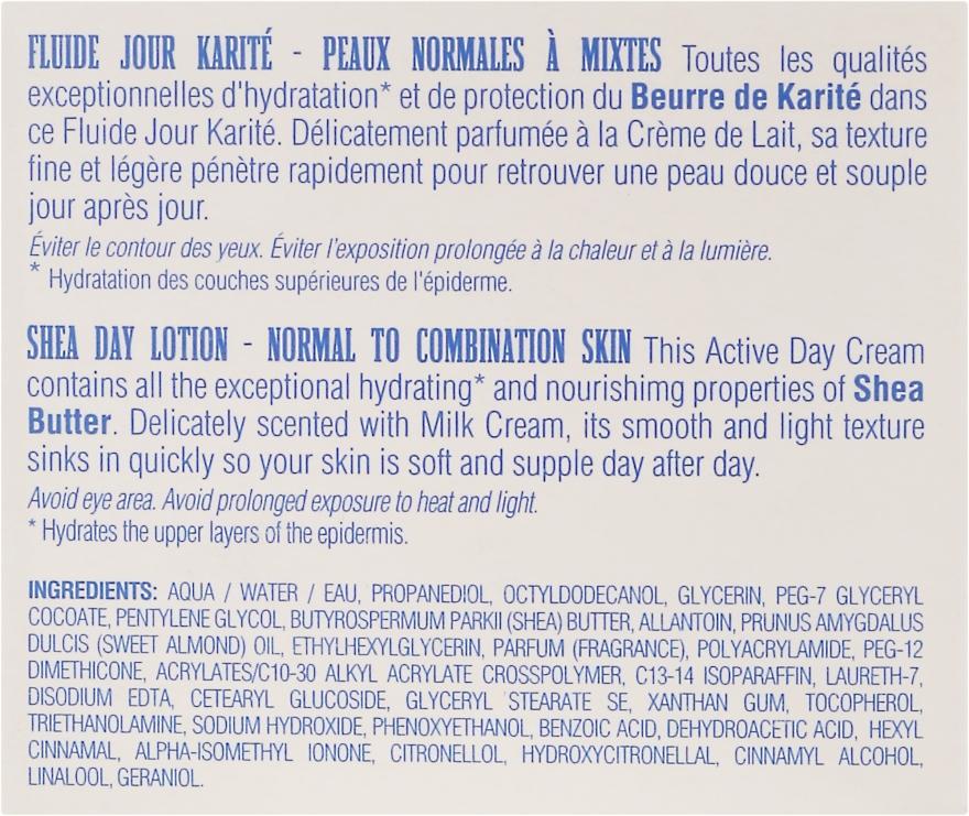 Balsam do twarzy na dzień z masłem shea do skóry normalnej i mieszanej - Institut Karité Shea Day Lotion — фото N3