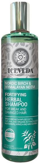 Wzmacniający szampon ziołowy do włosów Nordycka brzoza i miodla indyjska - Iceveda