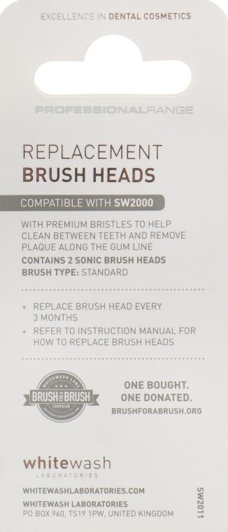 Wymienna końcówka do szczoteczki sonicznej do zębów SW 2000 - WhiteWash Laboratories Toothbrush — фото N2