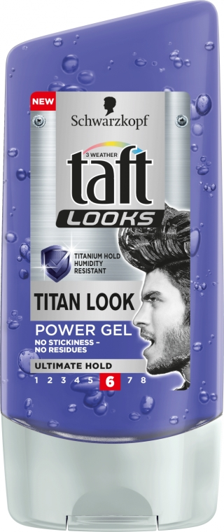 Ekstramocny żel do włosów - Schwarzkopf Taft Looks Titan Look Power Gel No Stickness-No Residues