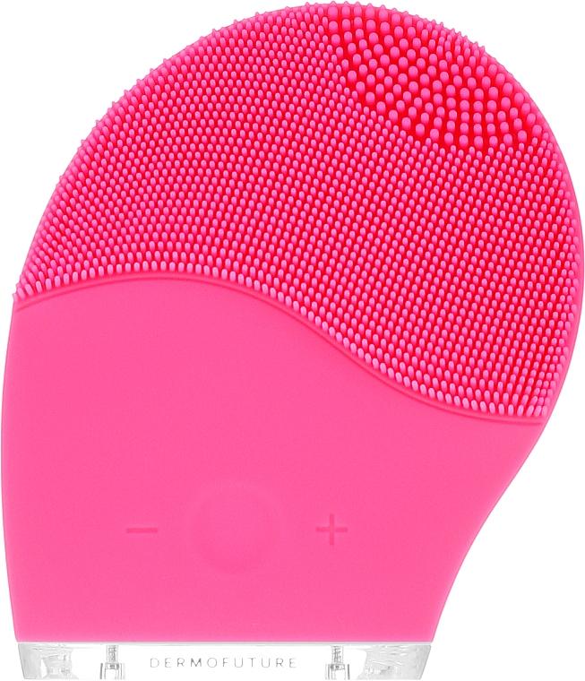 Szczoteczka soniczna do oczyszczania twarzy, różowa - DermoFuture — фото N2