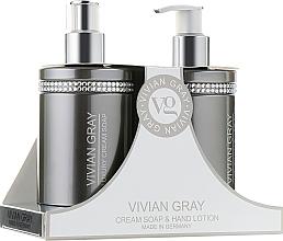 Kup Zestaw - Vivian Gray Grey Crystal (cr/soap/250ml + h/lot/250ml)