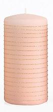 Kup Świeca dekoracyjna, różowo-złoty walec, 7 x 14 cm - Artman Andalo
