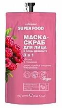 Kup Maska-peeling do twarzy i dekoltu 3 w 1 Malina i rozmaryn - Cafe Mimi Super Food