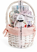 Kup Zestaw - IDC Institute Vintage Flowers Basket (sh/g/160ml+b/lot/50ml+salt/100g+bomb/160ml)